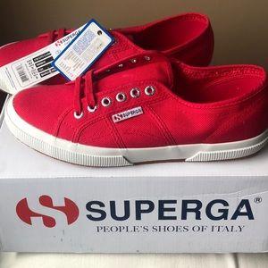 NWT- Superga Reds. W's size 10.5, M's size 9!